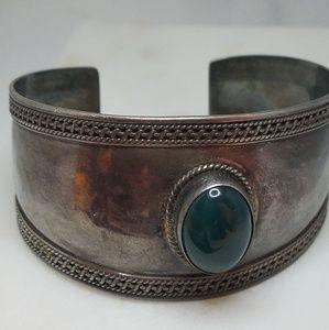 Jewelry - Sterling Malachite Cuff